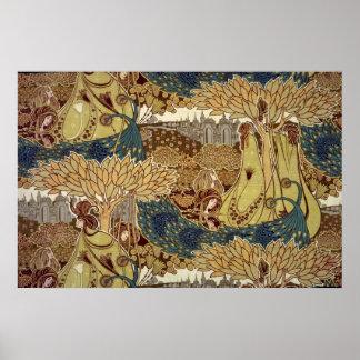 Design de matéria têxtil pelo armário de Christoph Impressão