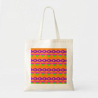 Design de néon verde e da laranja do abstrato bolsas