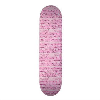 Design de papel cor-de-rosa velho da contagem musi skate