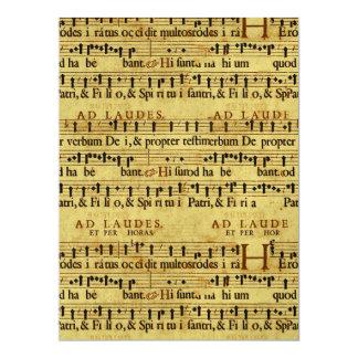 Design de papel velho da notação da contagem convite personalizados