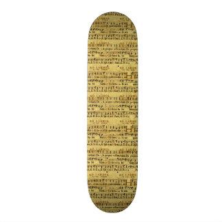 Design de papel velho da notação da contagem music skate boards