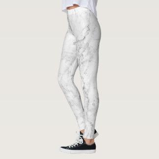 Design de pedra de mármore branco & cinzento legging