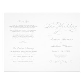 Design de prata da caligrafia dos programas | do flyer