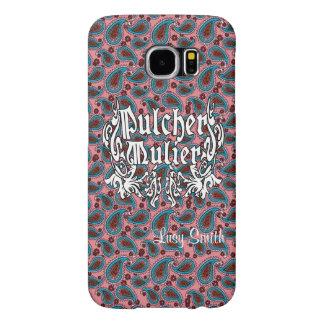 Design de Pulcher Mulier com teste padrão do Capas Samsung Galaxy S6