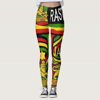 Design de Rastafarian das caneleiras dos Steppers Legging