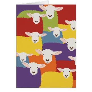 Design de sobreposição dos carneiros   do cartão comemorativo