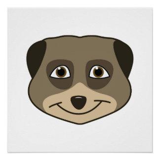 Design de sorriso do meerkat poster perfeito