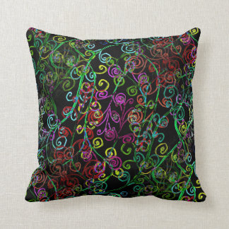 Design de Swirly Whirly no travesseiro decorativo Almofada