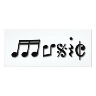 Design de texto da música convite