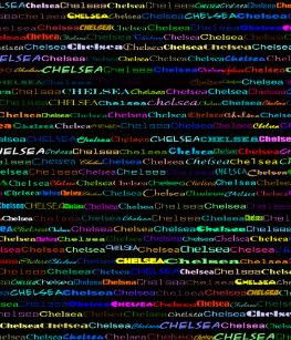 3daa53e945 Design de texto de Chelsea mim avental padrão
