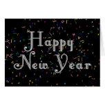 Design de texto do feliz ano novo cartao