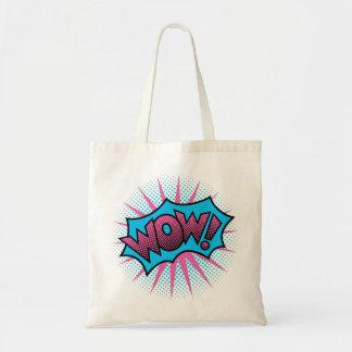 Design de texto do wow bolsa tote