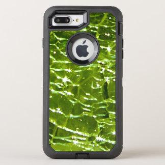 Design de vidro Crackled de Birthstone - Peridot Capa Para iPhone 8 Plus/7 Plus OtterBox Defender