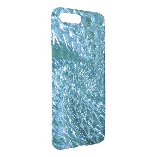 Design de vidro Crackled do redemoinho - topázio Capa iPhone 8 Plus/7 Plus
