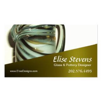 """Design de vidro de """"Glassique"""" -, desenhista da ce Modelo De Cartões De Visita"""