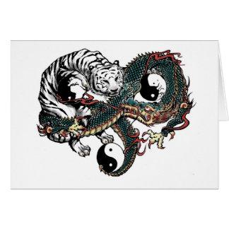 Design de Yin Yang Cartão Comemorativo