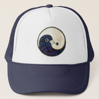 Design de Yin Yang do boné de beisebol com pombas