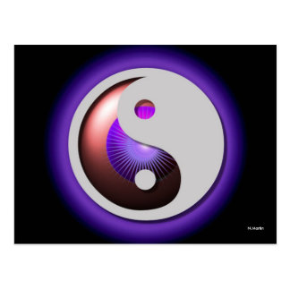 Design de YinYang do cartão