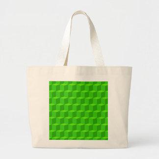 Design dimensional do teste padrão 3D do cubo 3 Bolsas Para Compras