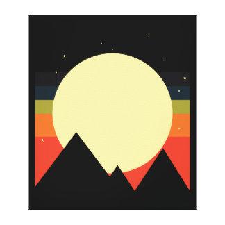 Design do abstrato da montanha da lua