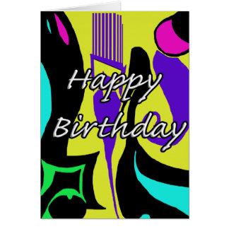 Design do abstrato do feliz aniversario cartão comemorativo