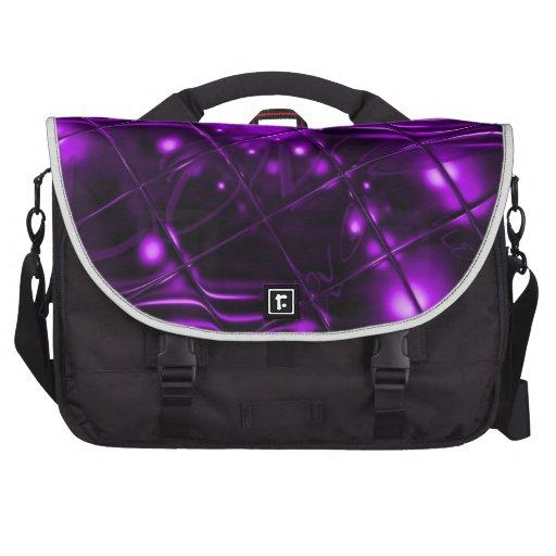 Design do abstrato do roxo bolsa para computador portátil