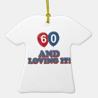 Design do aniversário das pessoas de 60 anos ornamentos