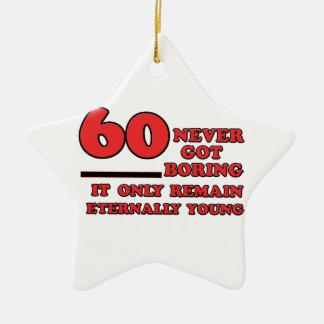 Design do aniversário das pessoas de 60 anos ornamento de cerâmica estrela