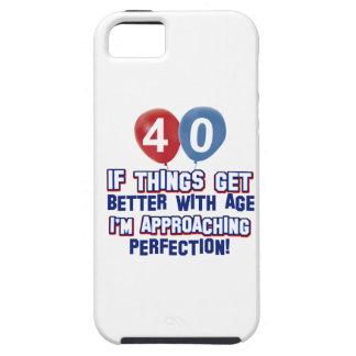 Design do aniversário de 40 anos capa para iPhone 5