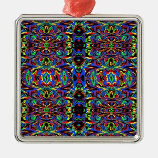 Design do aniversário de Nate Ornamento Quadrado Cor Prata