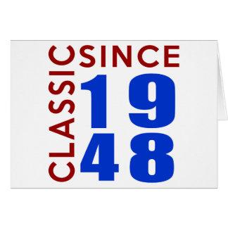 Design do aniversário do clássico desde 1948 cartão comemorativo