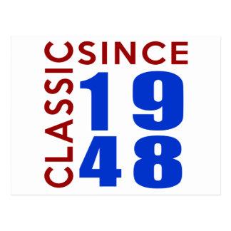 Design do aniversário do clássico desde 1948 cartão postal