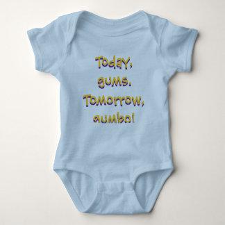 Design do bebê do Gumbo de LSU (azul) Body Para Bebê