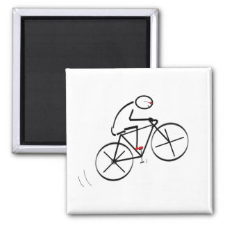 Design do Bicyclist do divertimento Ímã Quadrado