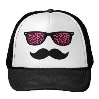 Design do bigode do Wayfarer do leopardo do rosa q Boné