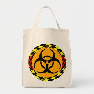 Design do Biohazard por Kenneth Yoncich Sacola Tote De Mercado