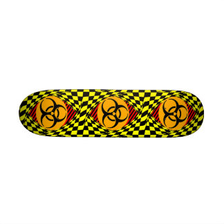 Design do Biohazard Shape De Skate 18,1cm