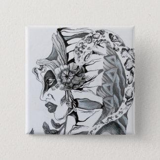 Design do botão das belas artes de Samuel Rios Bóton Quadrado 5.08cm