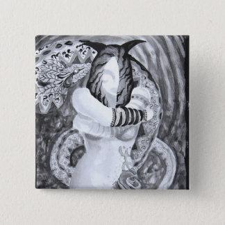 Design do botão das belas artes de Taina Samuel Bóton Quadrado 5.08cm