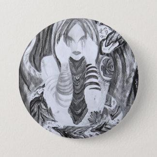 Design do botão das belas artes de Taina Samuel Bóton Redondo 7.62cm