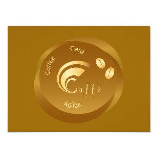 design do café convite personalizado