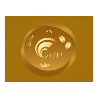design do café convite 16.51 x 22.22cm