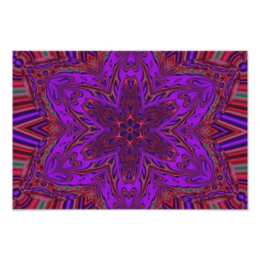 Design do caleidoscópio de Purple Heart Impressão Fotográficas