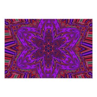 Design do caleidoscópio de Purple Heart Impressão De Foto
