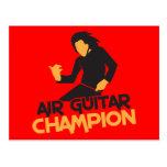 Design do campeão de Air Guitar Cartão Postal