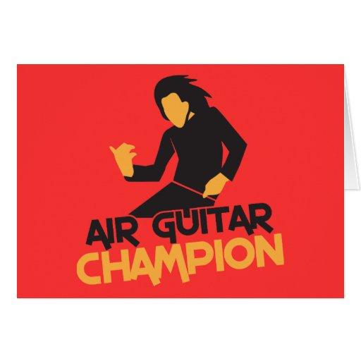 Design do campeão de Air Guitar Cartoes