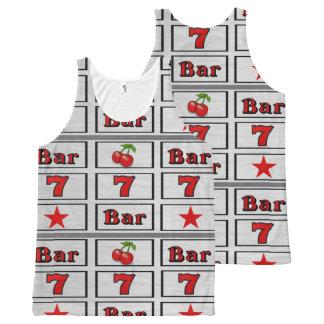 Design do carretel de slot machine do casino regata com estampa completa
