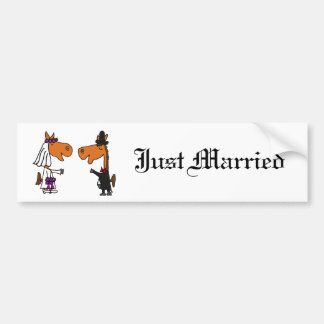 Design do casamento dos noivos do cavalo do adesivo
