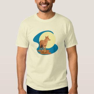 design do chacal e da Lua cheia T-shirt