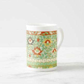Design do chinês da flor de Lotus Xícara De Chá